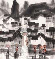 江南雨 立轴 纸本 - 127698 - 保真作品专题 - 2011春季书画拍卖会 -收藏网