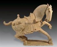 灰陶马 -  - 中国陶瓷及艺术珍玩 - 2011秋季拍卖会 -中国收藏网