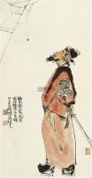 抬头见喜 立轴 设色纸本 - 程十发 - 中国书画专场 - 2011年秋季艺术品拍卖会 -中国收藏网