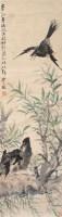 花鸟 立轴 纸本设色 - 17555 - 书画杂件 - 2007迎春文物艺术品拍卖会 -收藏网