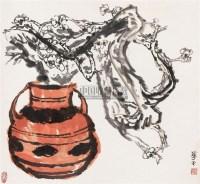 梅瓶 立轴 设色纸本 - 127635 - 中国书画 - 2007年秋季大型艺术品拍卖会 -中国收藏网