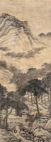 文伯仁 山水 立轴 设色纸本 - 文伯仁 - 中国书画 - 2006秋季文物艺术品展销会 -中国收藏网