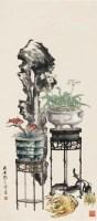 博古 立轴 设色纸本 - 122234 - 中国书画 - 2011年夏季艺术品拍卖会 -中国收藏网