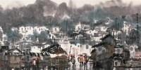 云安春雨 镜心 设色纸本 - 119126 - 中国书画 - 2006广州冬季拍卖会 -收藏网