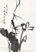 墨荷 轴 - 钟明善 - 中国书画(二) - 2011秋季书画拍卖会 -收藏网