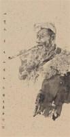 山里人 镜框 设色纸本 - 129875 - 名家作品二 - 2011广州艺术博览会夏季名家作品拍卖会 -收藏网