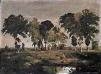 张充仁 风林 布面 油画 - 张充仁 - 中国油画 - 2006年秋季拍卖会 -收藏网