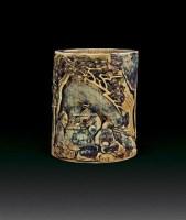 象牙松下高士笔筒 -  - 杂项 - 2011年首届中国古董杂项工艺品拍卖会 -收藏网