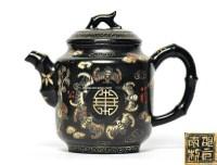 紫砂加漆描金福寿壶 -  - 辛亥藏珍II - 第307次拍卖会辛亥藏珍II -收藏网