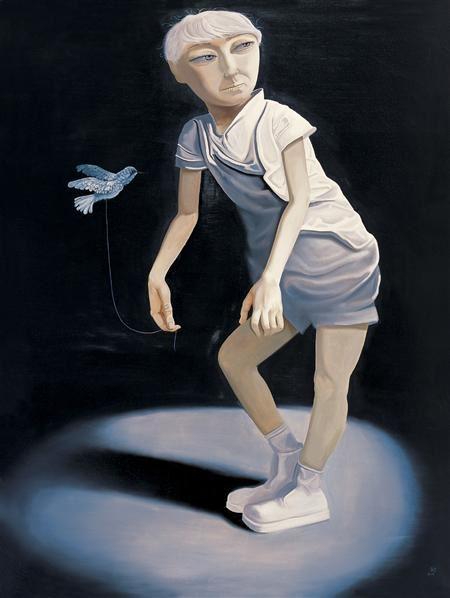 飞舞的小鸟之二 布面油画 - 140043 - 中国当代艺术 - 大海航行—中国当代艺术秋季拍卖会 -收藏网