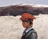 毛以岗 人物 布面油画 - 毛以岗 - 中国油画 - 2006秋季艺术品拍卖会 -收藏网