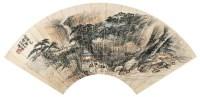 深山水榭 扇面 设色纸本 - 萧愻 - 中国书画(二) - 2006春季拍卖会 -收藏网