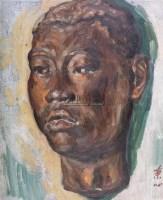 头像 布面 油画 - 戴秉心 - 中国名家西画 - 2009秋季艺术品拍卖会 -收藏网