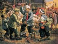 童年游戏 布面 油画 - 杨潇湘 - 油画、雕塑、版画暨广东油画、水彩 - 2006冬季拍卖会 -收藏网