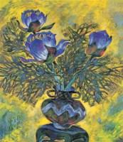 瓶花 布面 油画 -  - 油画、雕塑、版画暨广东油画、水彩 - 2006冬季拍卖会 -收藏网