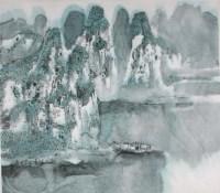 漓江胜境图 镜心 设色纸本 - 17344 - 当代书画名家精品专场 - 2008春季拍卖会 -收藏网