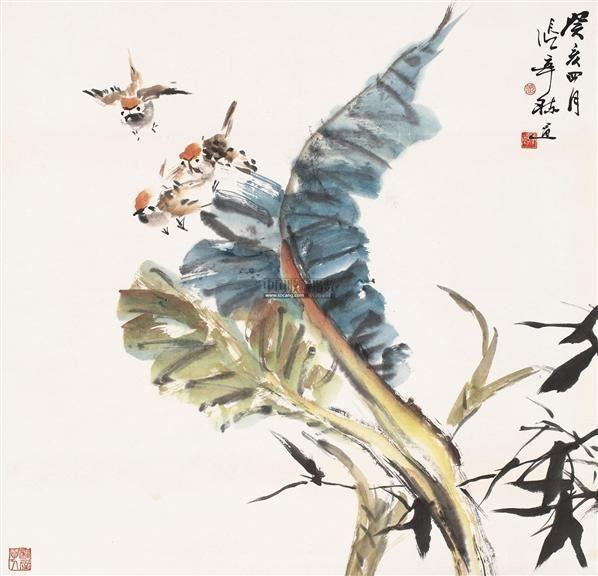 花鸟 立轴 设色纸本 - 4479 - 中国书画(一) - 2011年金秋精品书画拍卖会 -收藏网