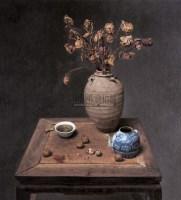 有干花的静物 布面 油画 -  - 油画版画 - 2007太平洋秋季艺术精品拍卖会 -收藏网