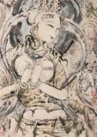 梦回大唐 框 设色纸本 - 69049 - 中国书画(二) - 2011秋季艺术品拍卖会 -收藏网