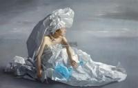 纸新娘 布面 油画 - 曾传兴 - 现当代中国艺术夜场 - 2011年秋季拍卖会 -收藏网