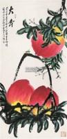 大寿 立轴 设色纸本 - 齐金平 - 中国书画 - 第117期月末拍卖会 -收藏网