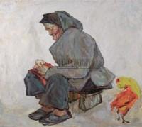 罗尔纯 1991年作 缝 - 罗尔纯 - 中国油画雕塑 - 2006秋季拍卖会 -收藏网