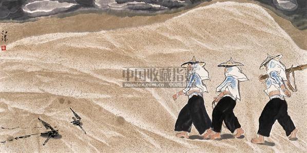 惠安女 镜心 设色纸本 - 133499 - 中国近现代书画 - 2006夏季拍卖会 -收藏网