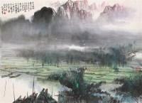 晨曦待渡 镜心 设色纸本 - 149188 - 中国当代水墨 - 2006秋季拍卖会 -收藏网