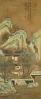 山水 立轴 绢本 - 刘松年 - 大众典藏 - 2011年第六期大众典藏拍卖会 -收藏网