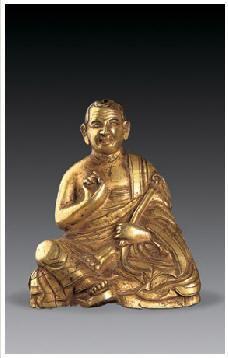 铜鎏金罗汉像 -  - 佛像唐卡 - 2007春季艺术品拍卖会 -收藏网