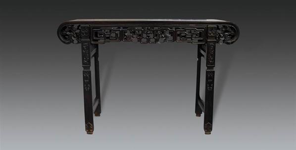 红木龙头下卷琴桌 -