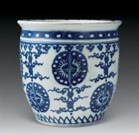 青花团花纹卷缸 -  - 中国瓷器 杂项 玉器 - 2008秋季拍卖会 -收藏网