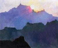 日出 布面 油画 - 126452 - 油画•版画•雕塑专场 - 2011秋季艺术品拍卖会 -收藏网