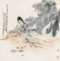 仕女 立轴 设色纸本 - 白伯骅 - 中国当代书画 - 2006秋季艺术品拍卖会 -中国收藏网