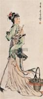 仕女 立轴 设色纸本 - 颜梅华 - 中国当代书画 - 2007夏季艺术品拍卖会 -收藏网