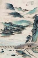 山水 镜心 设色纸本 - 陈维信 - 中国书画(二) - 2009春季大型艺术品拍卖会 -收藏网