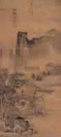江村渔隐 立轴 水墨绢本 - 马麟 - 中国古代书画 - 2005春季艺术品拍卖会(书画) -收藏网