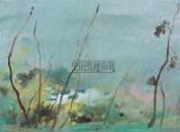 春雨霏霏 布面油彩 - 苏天赐 - 中国油画及雕塑 - 2006年春季拍卖会 -收藏网