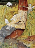 和平鸽美女 布面  油画 - 熊宇 - 中国现当代艺术 - 2007年夏季拍卖会 -收藏网