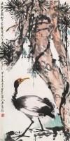 松鹤图 立轴 设色纸本 - 卢光照 - 中国近现代书画 - 2006秋季艺术品拍卖会 -中国收藏网
