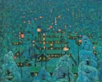 年年有馀 布面  油画 - 李秀实 - 历史性的转折——日本所藏中国油画专场 - 2006秋季拍卖会 -收藏网