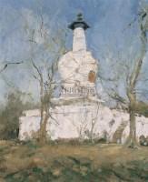 扬州白塔 布面油彩 - 155198 - 中国油画(二) - 2006年中国艺术品春季拍卖会 -收藏网