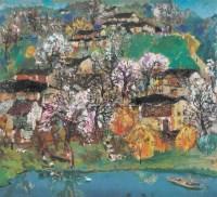 江南 布面 油画 - 洪凌 - 中国油画 - 2006秋季大型艺术品拍卖会 -中国收藏网