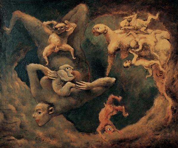 夏小万 1989年作 母与子 布面油画 - 137685 - 中国当代艺术二十年 - 2006秋季拍卖会 -收藏网