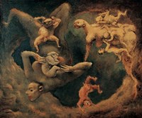 夏小万 1989年作 母与子 布面油画 - 夏小万 - 中国当代艺术二十年 - 2006秋季拍卖会 -收藏网