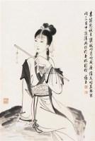 仕女 立轴 水墨纸本 - 118225 - 中国书画 - 2007年秋季大型艺术品拍卖会 -中国收藏网