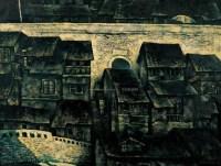 老城 城墙内外 布面油画 - 翁凯旋 - 中国油画、水彩、版画 - 2005广州夏季拍卖会 -收藏网