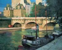 玛丽桥 布面 油画 -  - 油画、雕塑、版画暨广东油画、水彩 - 2006冬季拍卖会 -收藏网