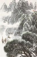 江边小景 立轴 纸本 - 123168 - 保真作品专题 - 2011春季书画拍卖会 -收藏网