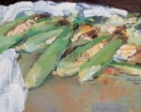 玉米 布面  油画 - 阎振铎 - 中国油画 - 2006春季拍卖会 -收藏网
